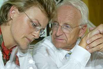 Der Landesvater und seine Ministerin: Edmund Stoiber mit Monika Hohlmeier