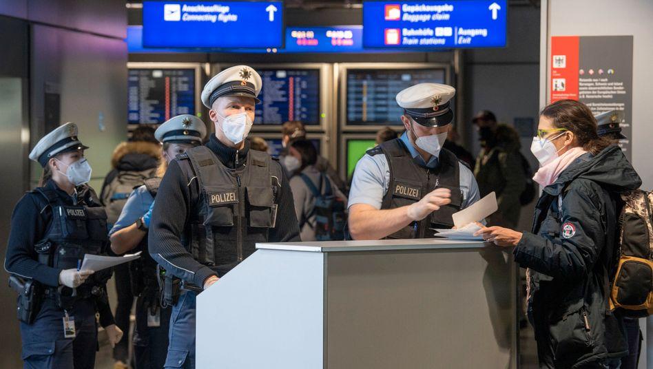 Einreisekontrolle am Flughafen Frankfurt