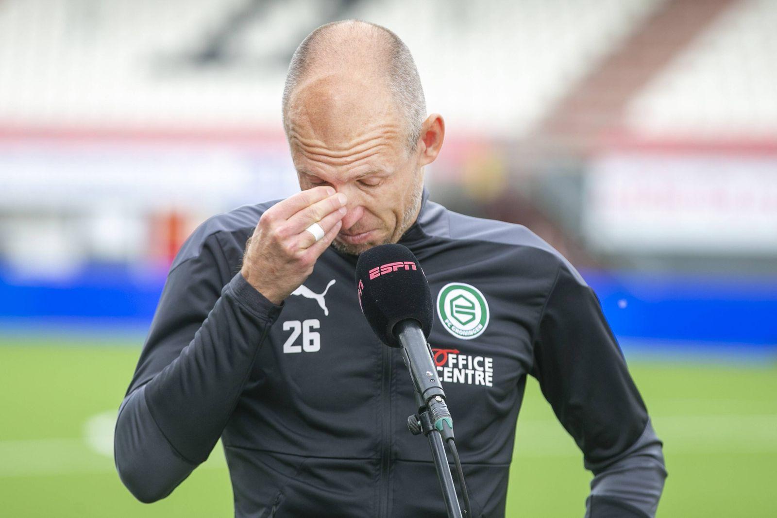 EMMEN, Stadium Oude Meerdijk, 09-05-2021 , season 2020 / 2021 , Dutch Eredivisie. Final result 0-4, FC Groningen player