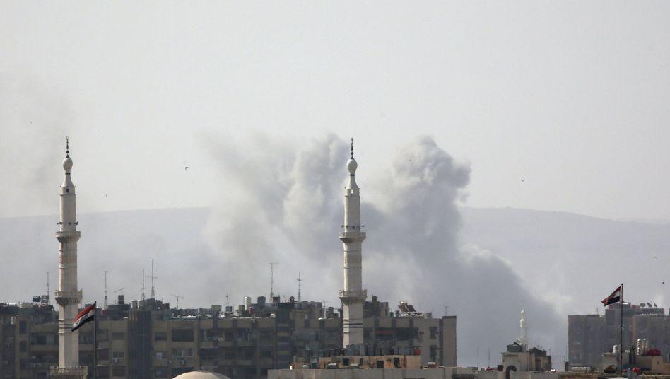 Rauch über Jarmuk