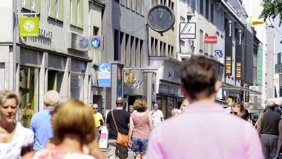 Fußgängerzone in Bochum: Konjunktur kühlt sich merklich ab