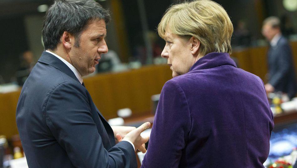 """Renzi und Merkel: """"Echte Probleme zu besprechen"""""""