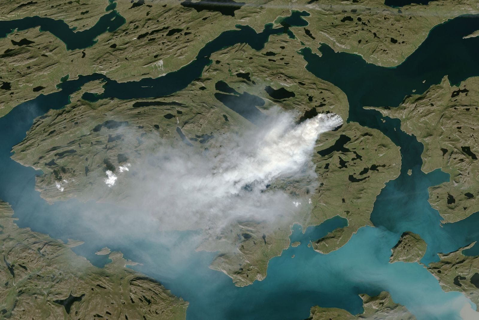 EINMALIGE VERWENDUNG Grönland / Brände