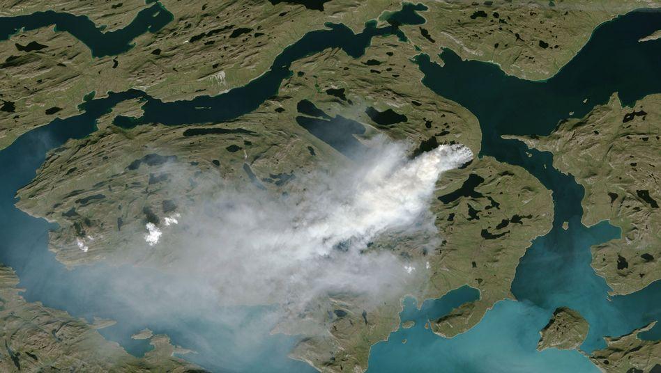 Satellitenfoto der Brände - aufgenommen am 3. August