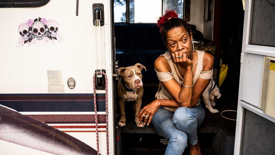 """Wohnmobilbewohnerin Evans in San Francisco: """"Das verdammte Virus"""""""