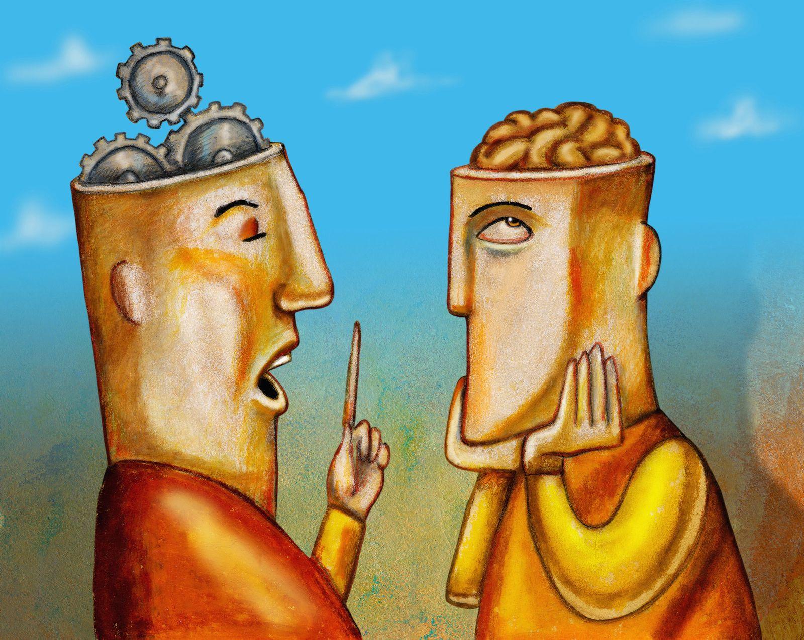 NICHT MEHR VERWENDEN! - KaSP Intelligenz Illustration reden SYMBOLBILD