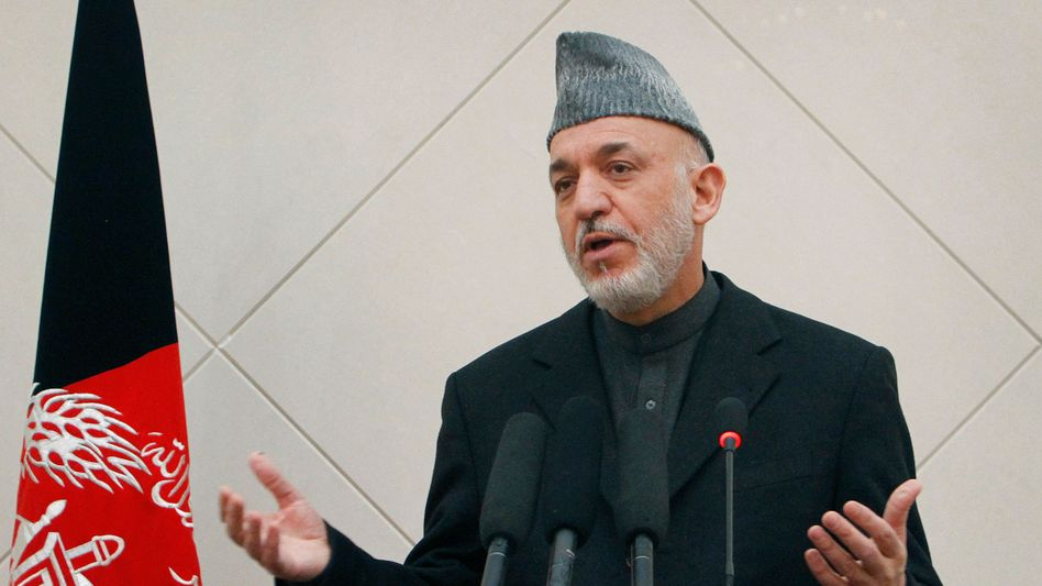 Afghan President Karzai wants Germany's help.