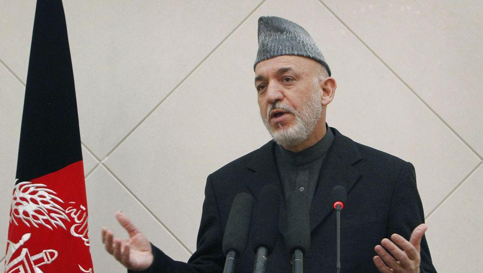Der afghanische Präsident Hamid Karzai: Deutschland soll vermitteln