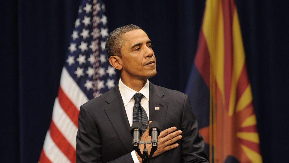 Obamas Auftritt in Tucson: Rede brillant, Lage verfahren
