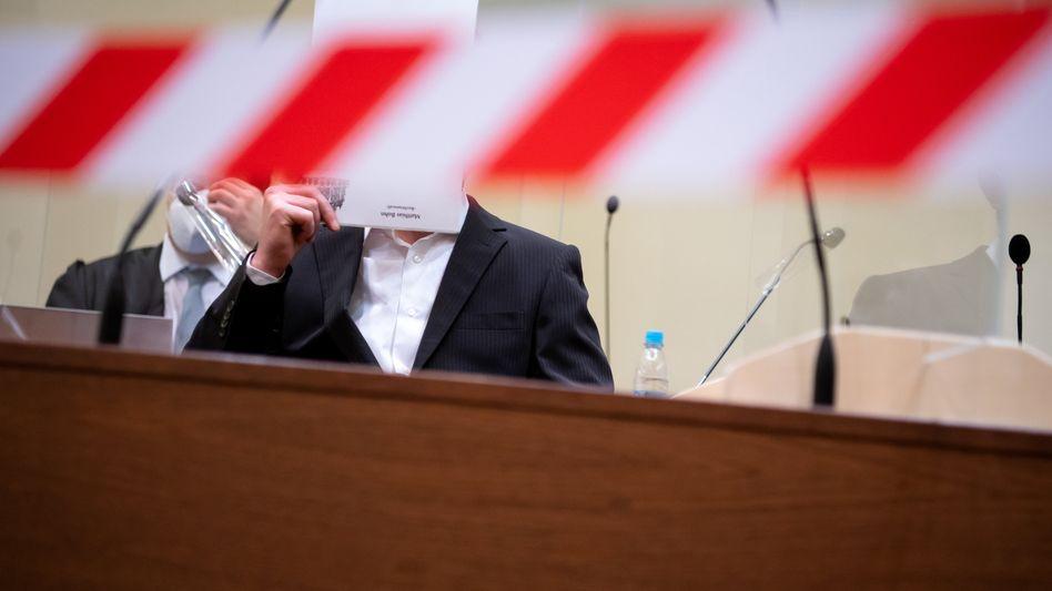 Angeklagter Muharrem D. Anfang März bei einem Gerichtstermin in München