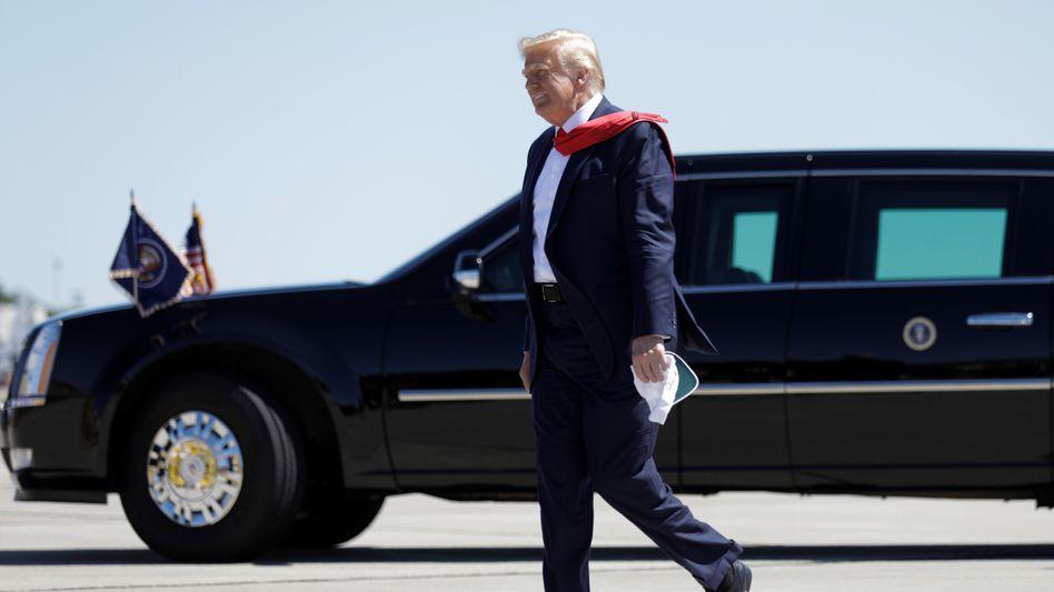 """Donald Trump (am 17. August): """"Aber soll das etwas Schlechtes sein oder etwas Gutes?"""""""