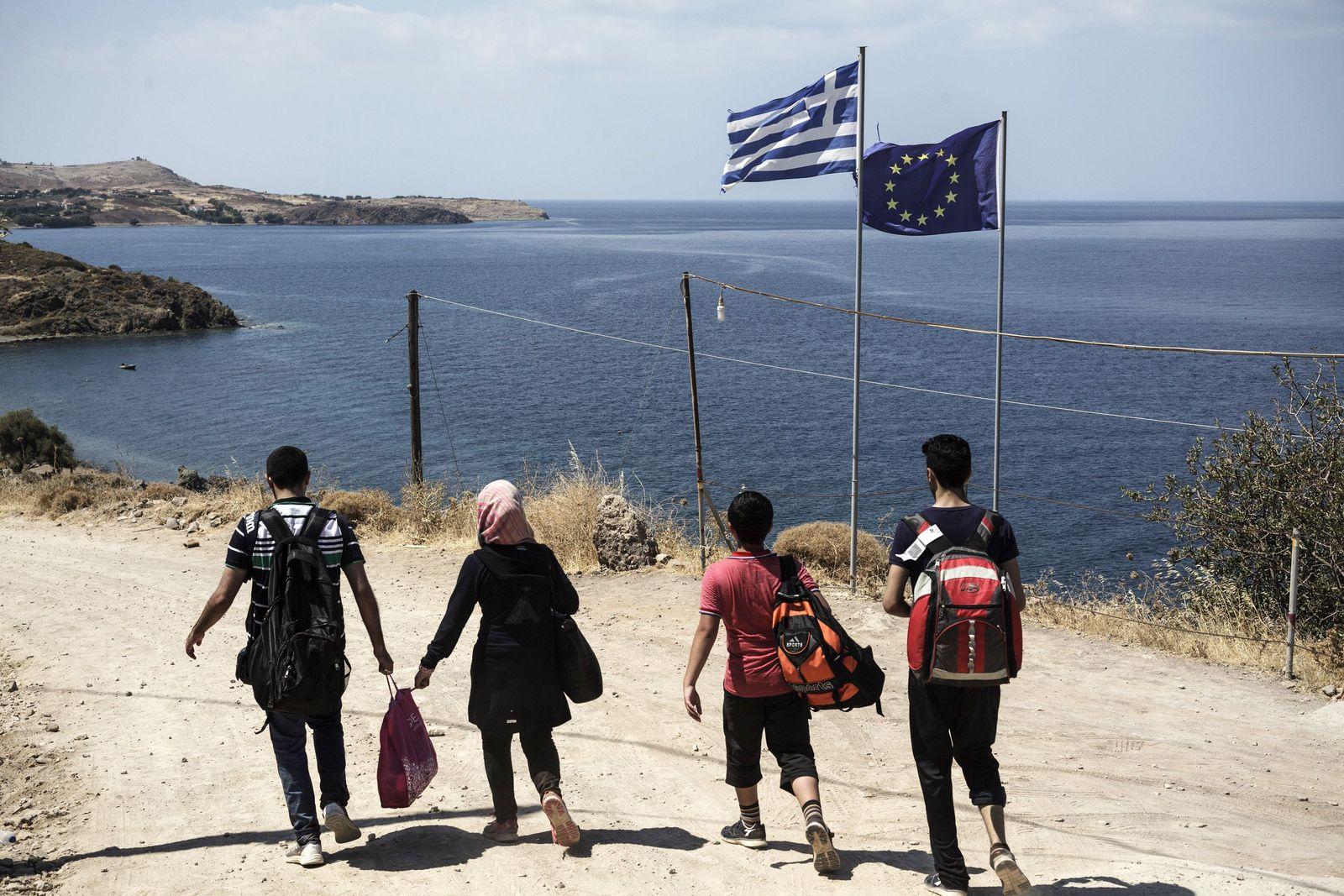 TOPSHOTS-EUROPE-GREECE-MIGRANTS Flüchtlinge