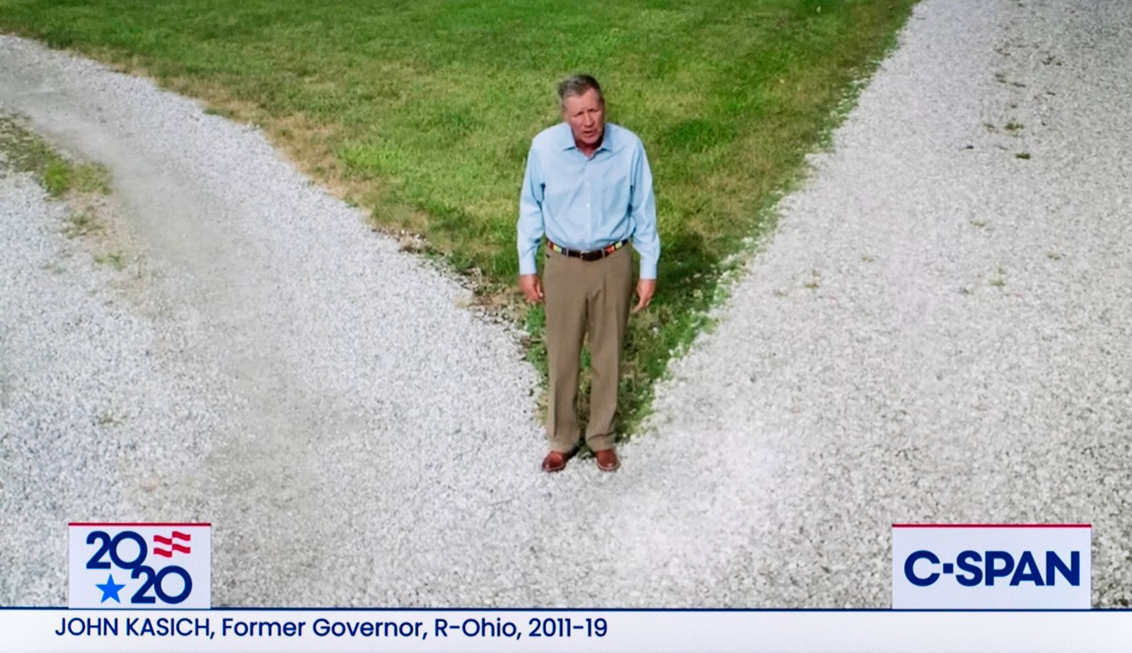 August 17, 2020 - Milwaukee, Wisconsin, U.S. - A screen grab from the C-SPAN coverage of former Governor JOHN KASICH (R