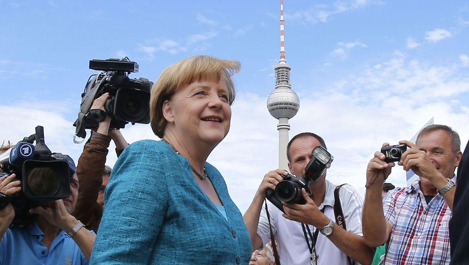 """CDU-Chefin Merkel (vor der Vorstandssitzung): """"Maß und Mitte"""" oder Mittelmaß?"""