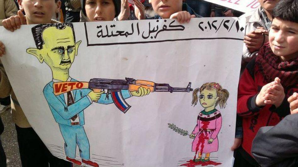 Krieg gegen die eigene Bevölkerung: Das Bild ging per Internet aus Syrien an die Medien