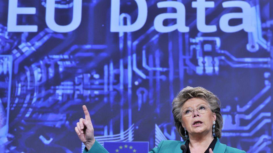 Viviane Reding: Die EU-Kommissarin plant eine EU-Verordnung zum Datenschutz