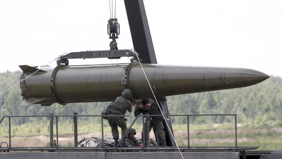 Atomfähige Iskander-Rakete des russischen Militärs