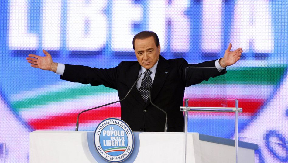 Silvio Berlusconi at his People of Freedom party conference in 2009