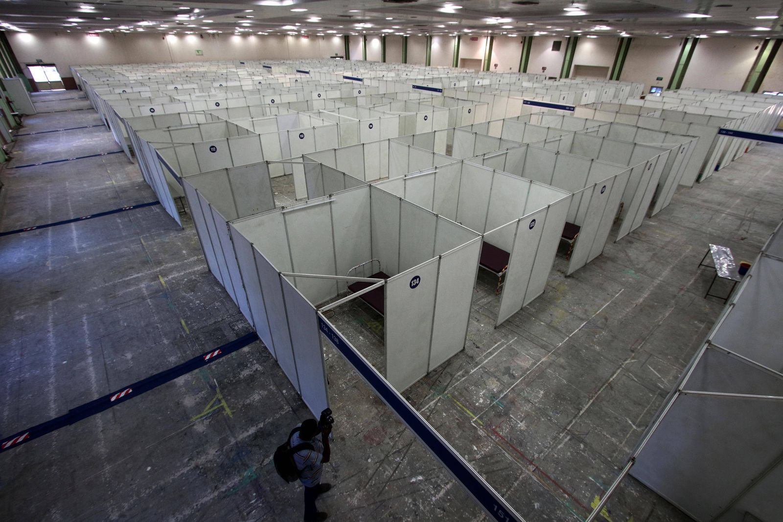 India: Quarantine center in Chennai Quarantine center at the Chennai Trade Center has been prepared by the Chennai Corp