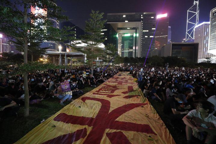 Demonstranten im Tamar Park: Ort des Widerstands