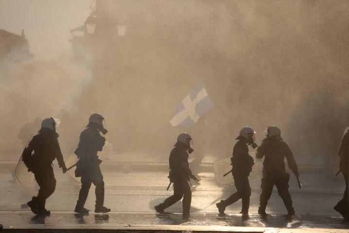 Polizeieinsatz bei Anti-Impf-Demo in Athen