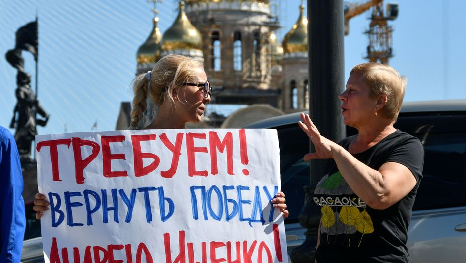 Wählerprotest in Wladiwostok