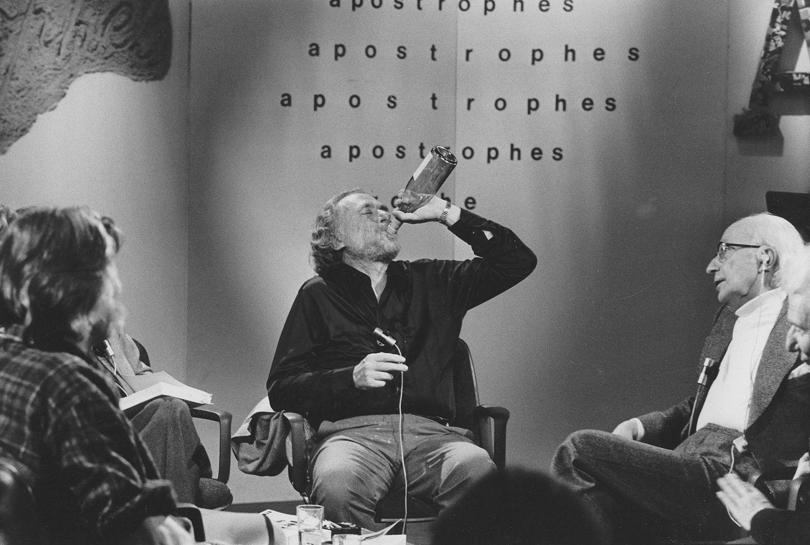 Portrait of Charles Bukowski, le 9 septembre 1978 emission apostrophe !AUFNAHMEDATUM GESCHÄTZT! PUBLICATIONxINxGERxSUIx
