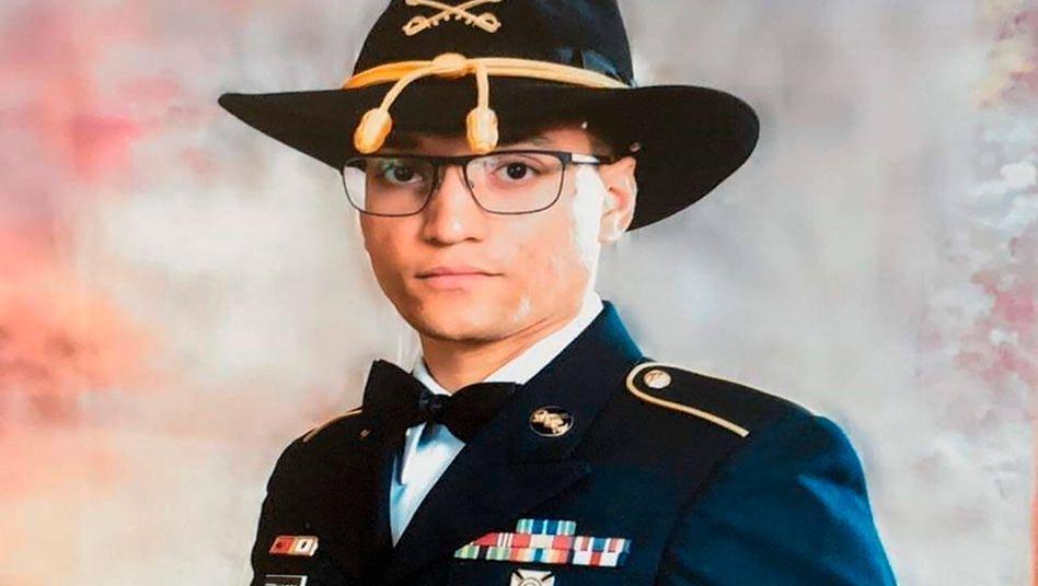 Der vermisste Elder Fernandes auf einem Foto, das die US-Armee am 20. August veröffentlicht hat