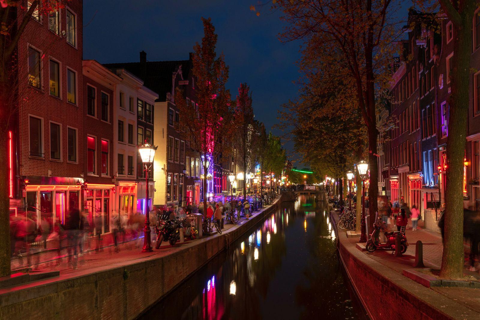 EINMALIGE VERWENDUNG Amsterdam / Rotlichtviertel