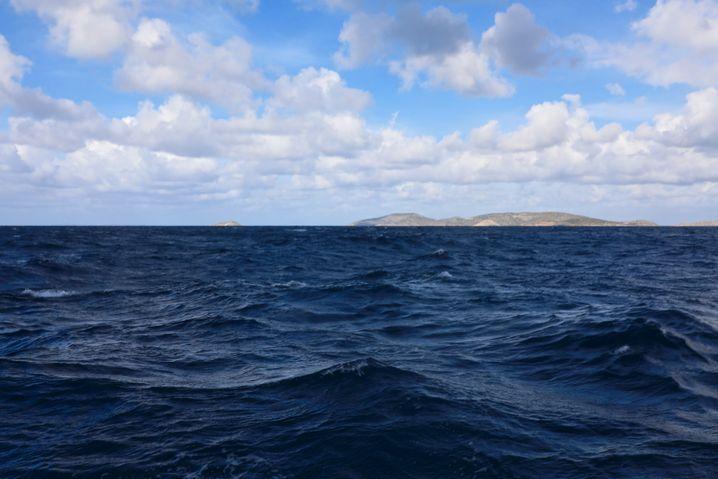 Von dieser Stelle kommt die letzte Standortinformation vom Boot der Flüchtlinge. Mehr als sechs Kilometer von der Insel Agathonisi entfernt kentert das Boot.