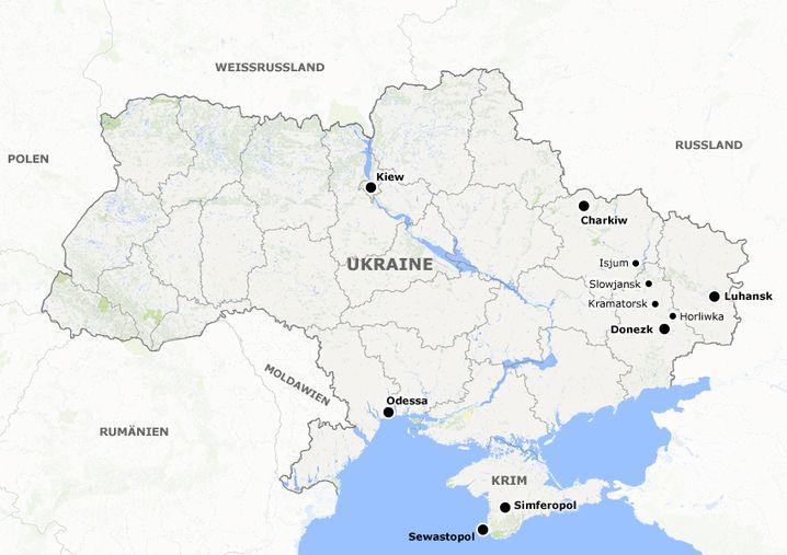 Krise in der Ukraine: Brennpunkte im Osten des Landes
