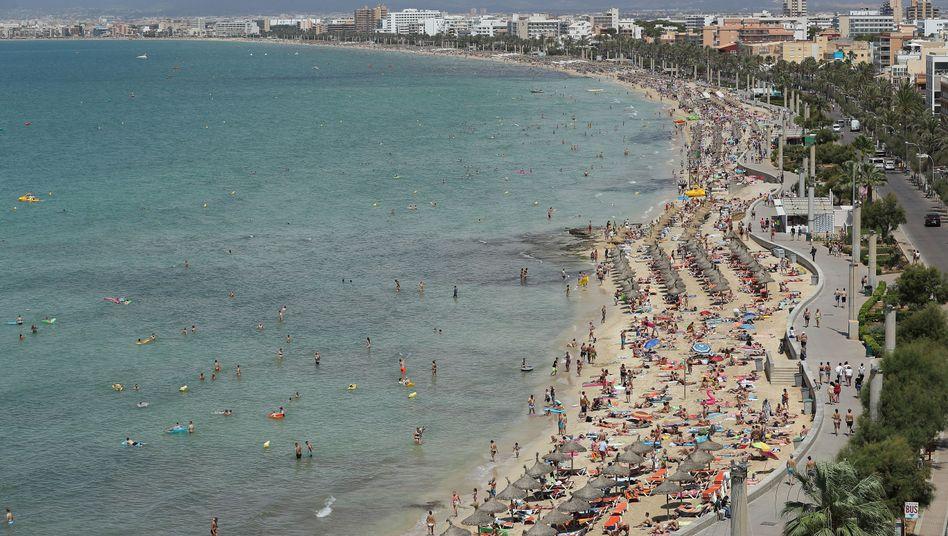 Strand in Palma de Mallorca (Archivbild)