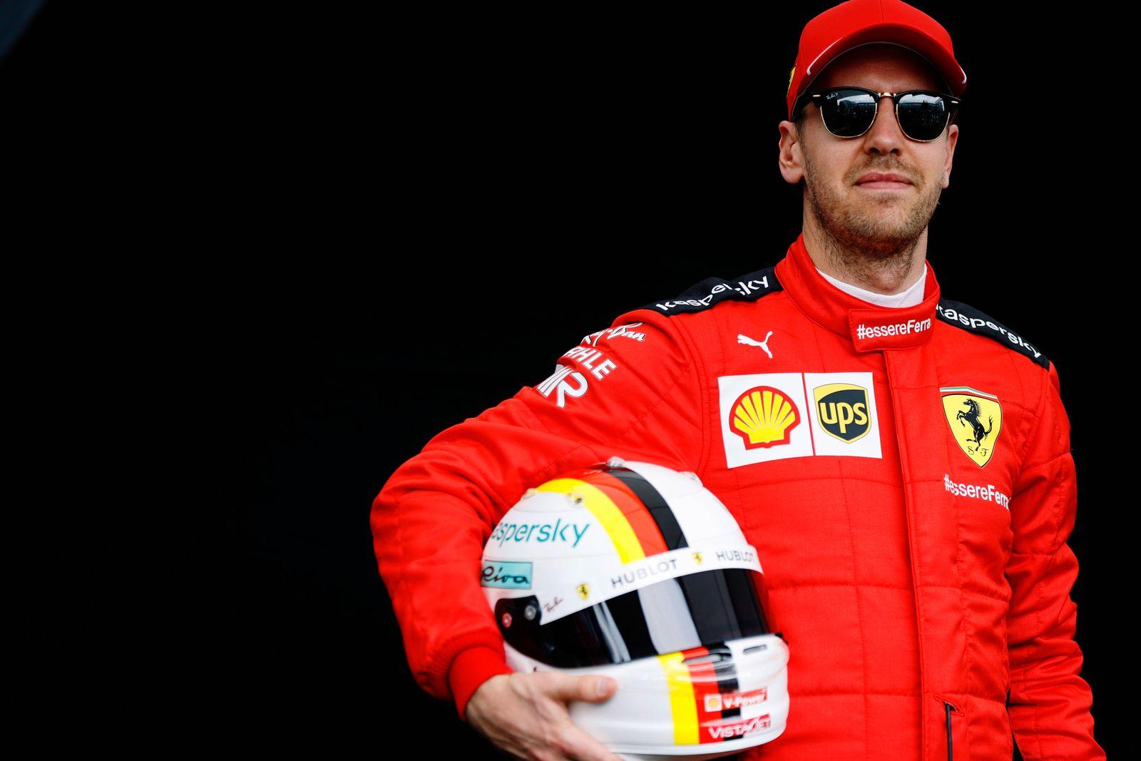 2020 Australian GP MARCH 12: Sebastian Vettel, Ferrari during the Australian GP on March 12, 2020. (Photo by Andy Hone