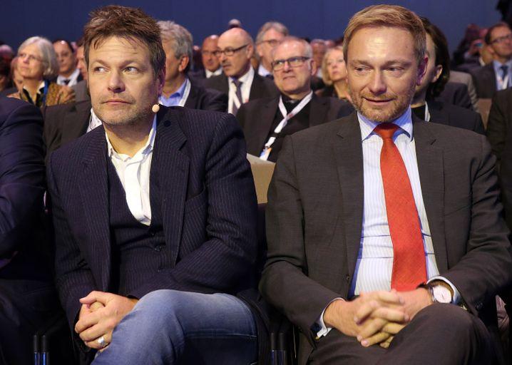 Habeck, Lindner (Archivbild von 2018): Aspiranten fürs Finanzministerium