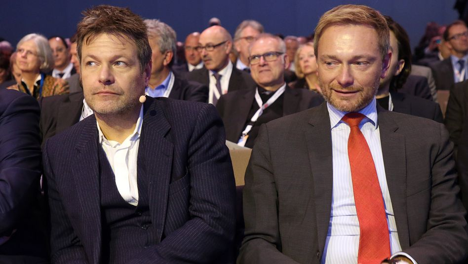Oppositionspolitiker Habeck, Lindner