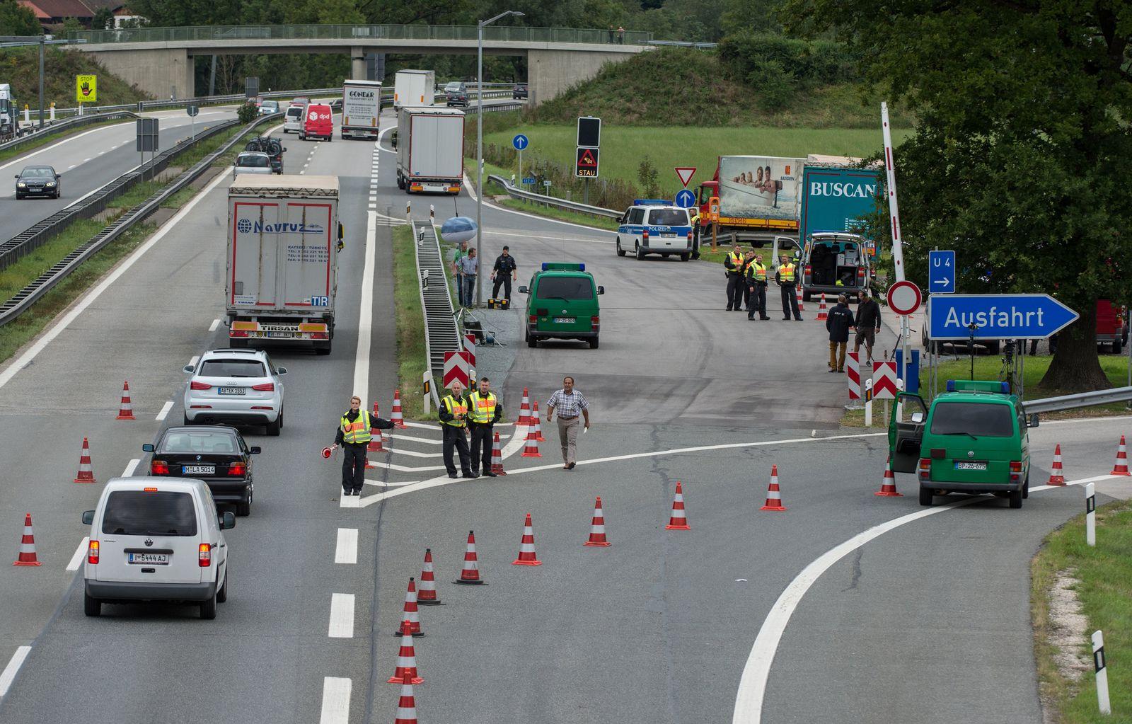 Deutschland/ A8/ Grenzkontrollen