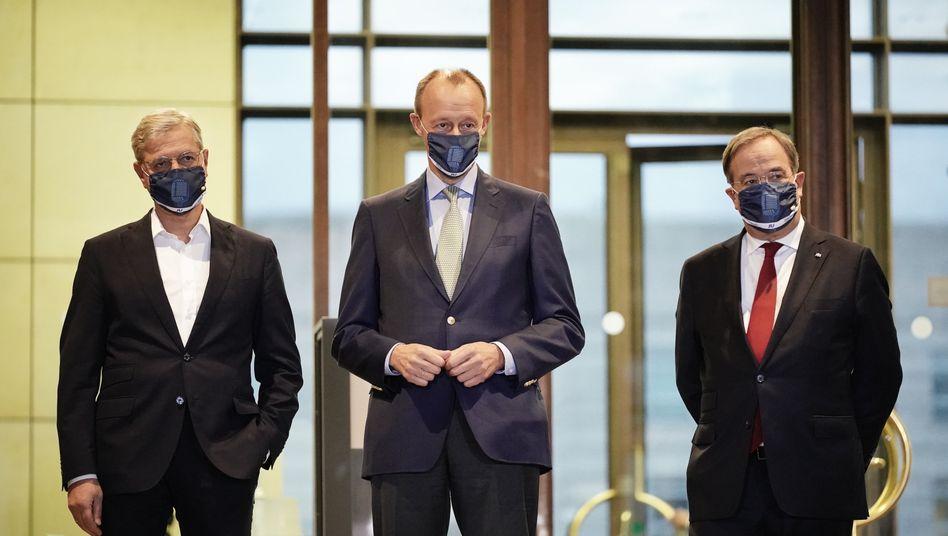 Bewerber um CDU-Vorsitz: Röttgen, Merz, Laschet