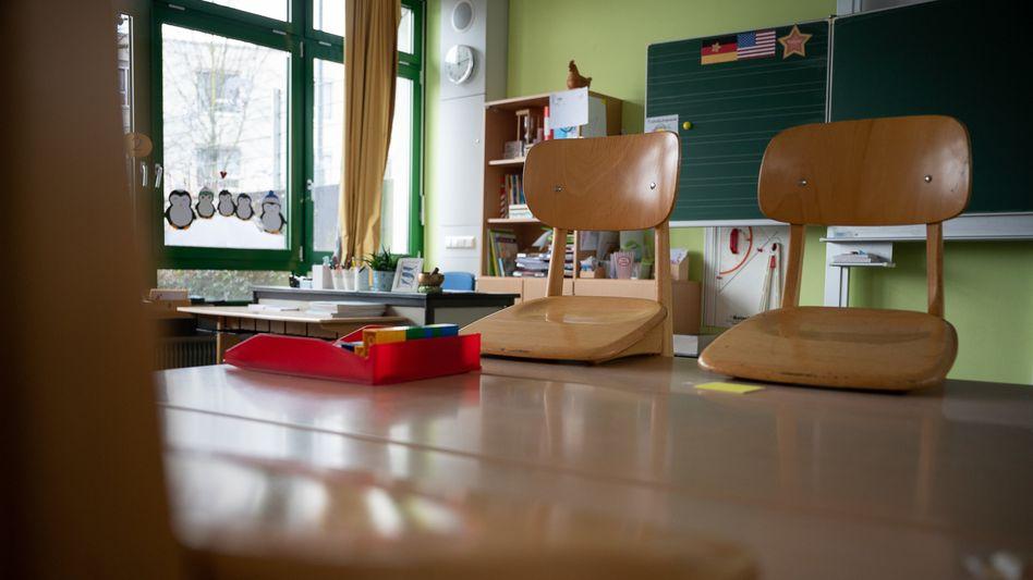 Verwaistes Klassenzimmer in Baden-Württemberg