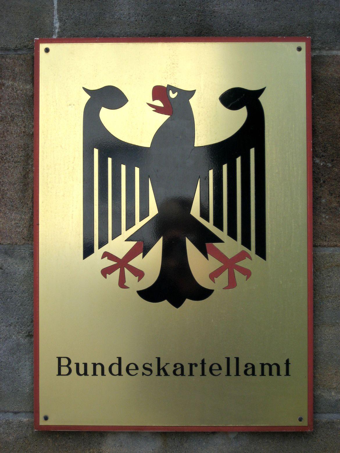 Bundeskartellamt / Schild