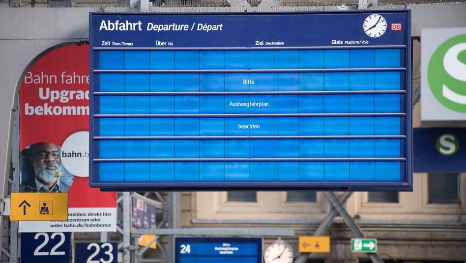 Gestörte Anzeigetafel in Frankfurt