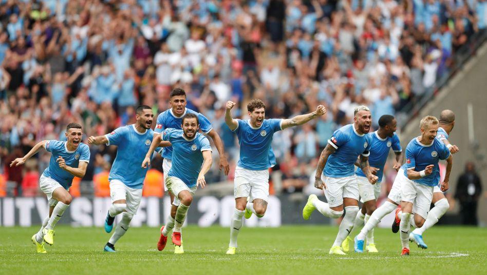 Manchester City jubelte nach dem Elfmeterschießen