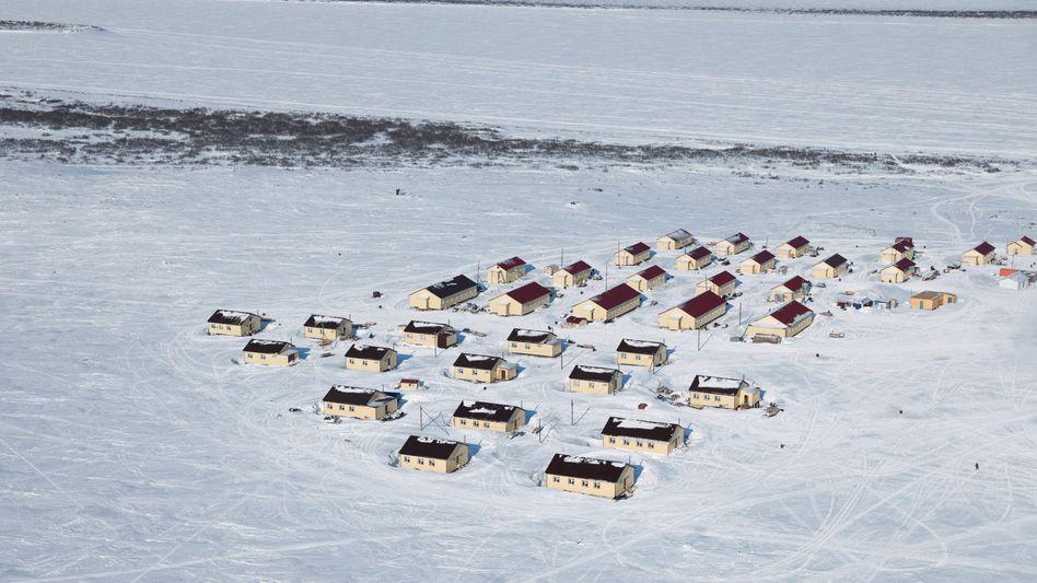 Dorf Nosok in Sibirien: In Zukunft könnte der tauende Permafrostboden das Leben in Teilen Russlands unmöglich machen.