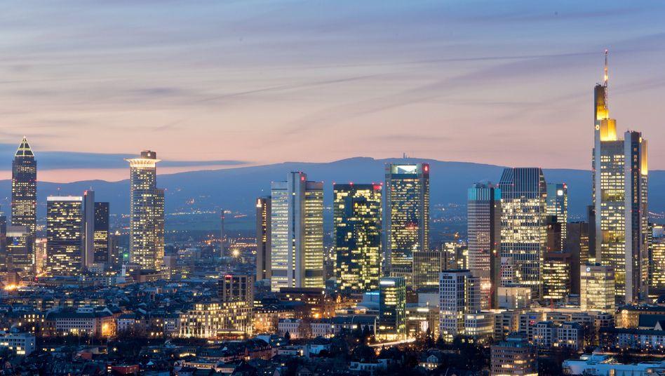 Hochhäuser der Frankfurter Bankenskyline