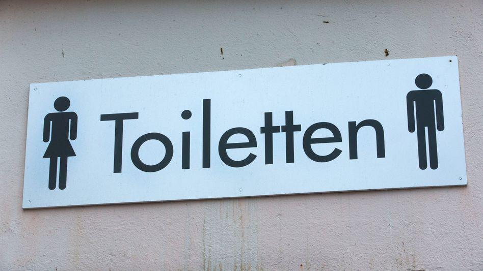 Toilettenschild (Archivbild)