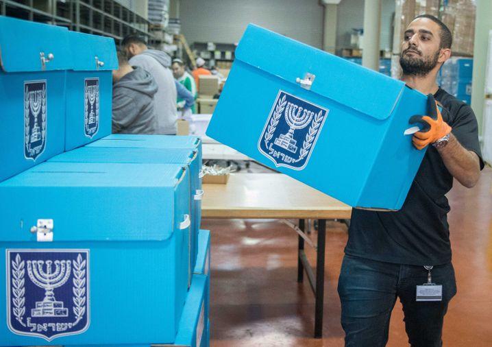 Israelische Wahlurnen