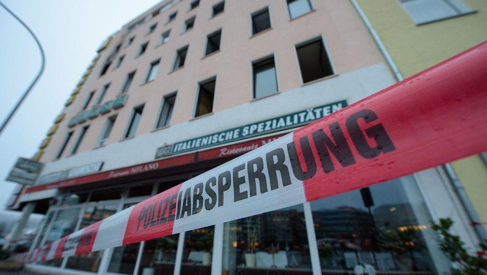 Haus nach Brand mit vier Toten in der Innenstadt von Saarbrücken