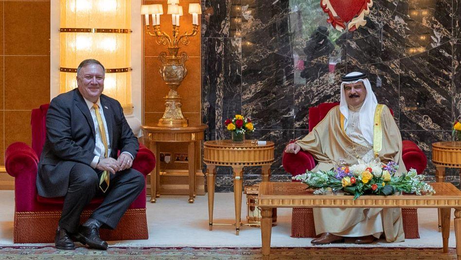 US-Außenminister Mike Pompeo mit Bahrains König Hamad bin Isaal-Khalifa