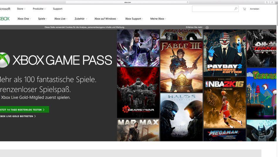 Spieleübersicht zum Xbox Game Pass