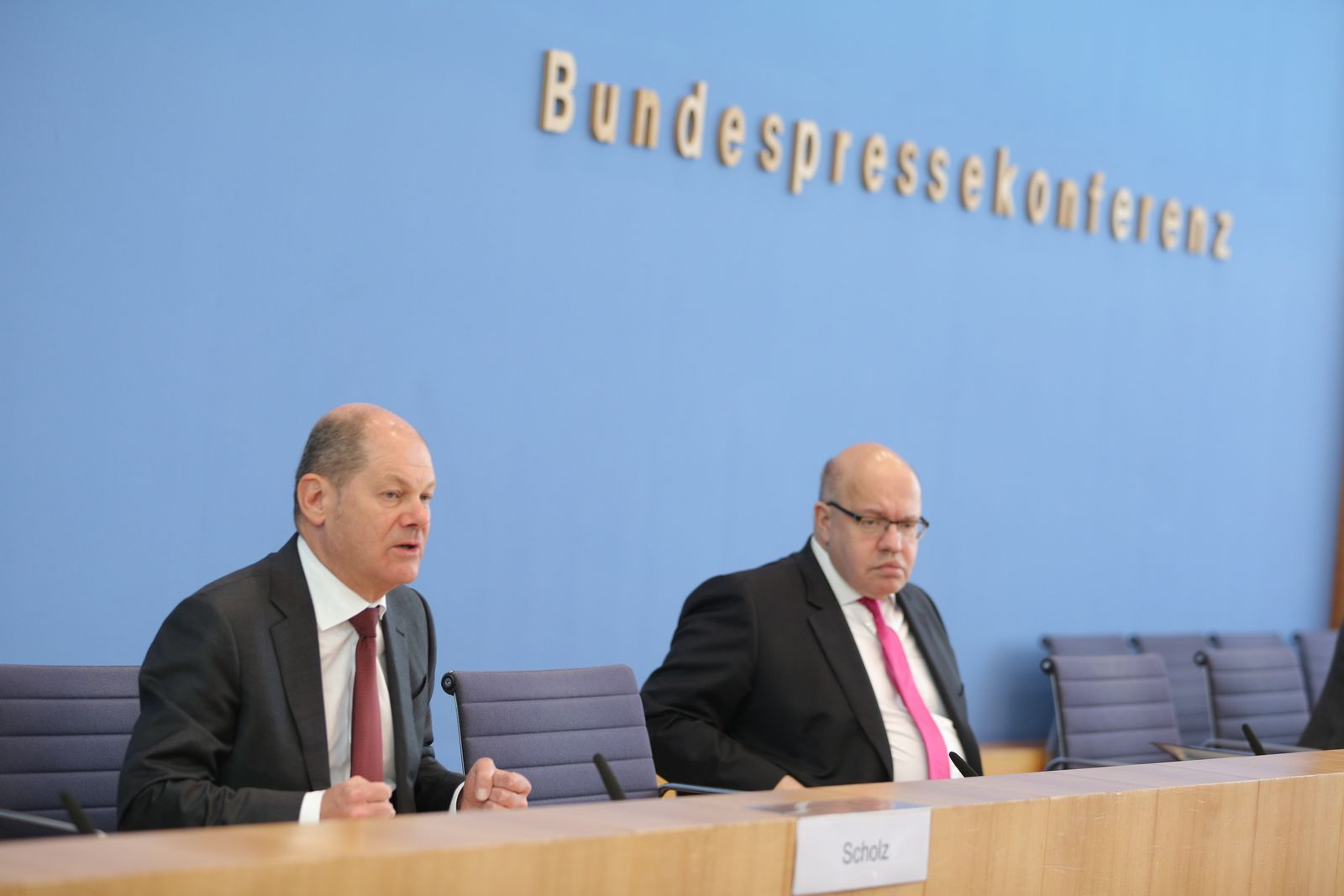 German government announces Supplementary Budget Plan 2020, Berlin, Germany - 23 Mar 2020