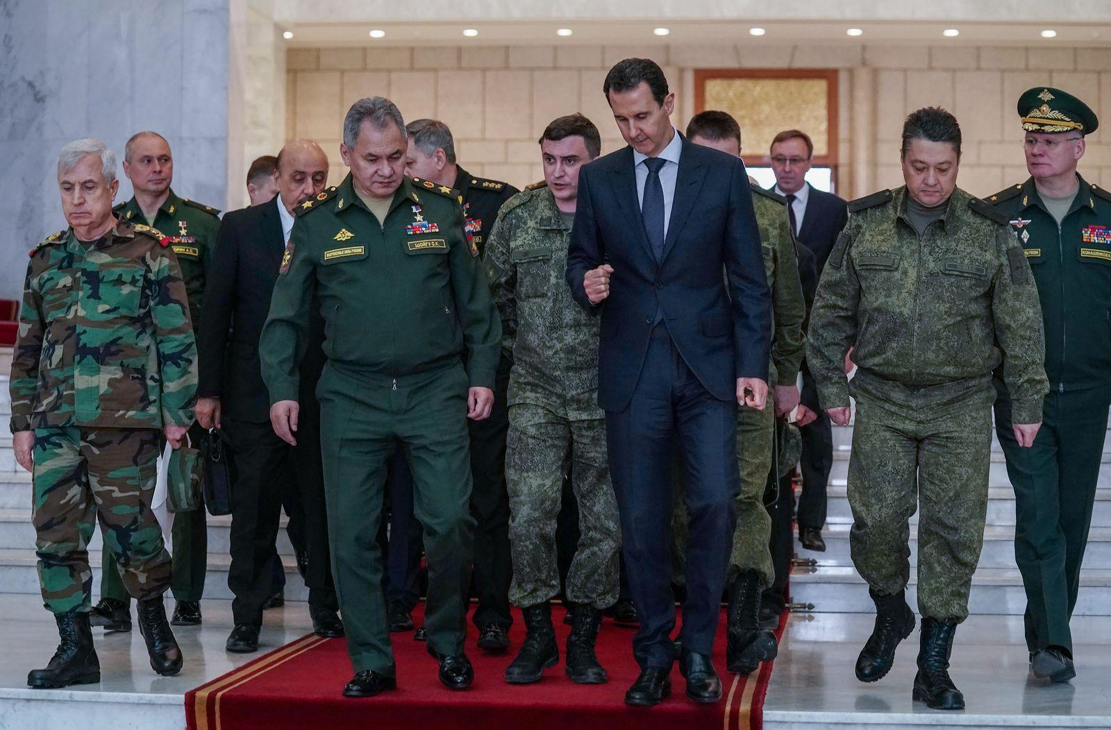 Russian Defense Minister Sergei Shoigu visits Damascus, Syria - 23 Mar 2020